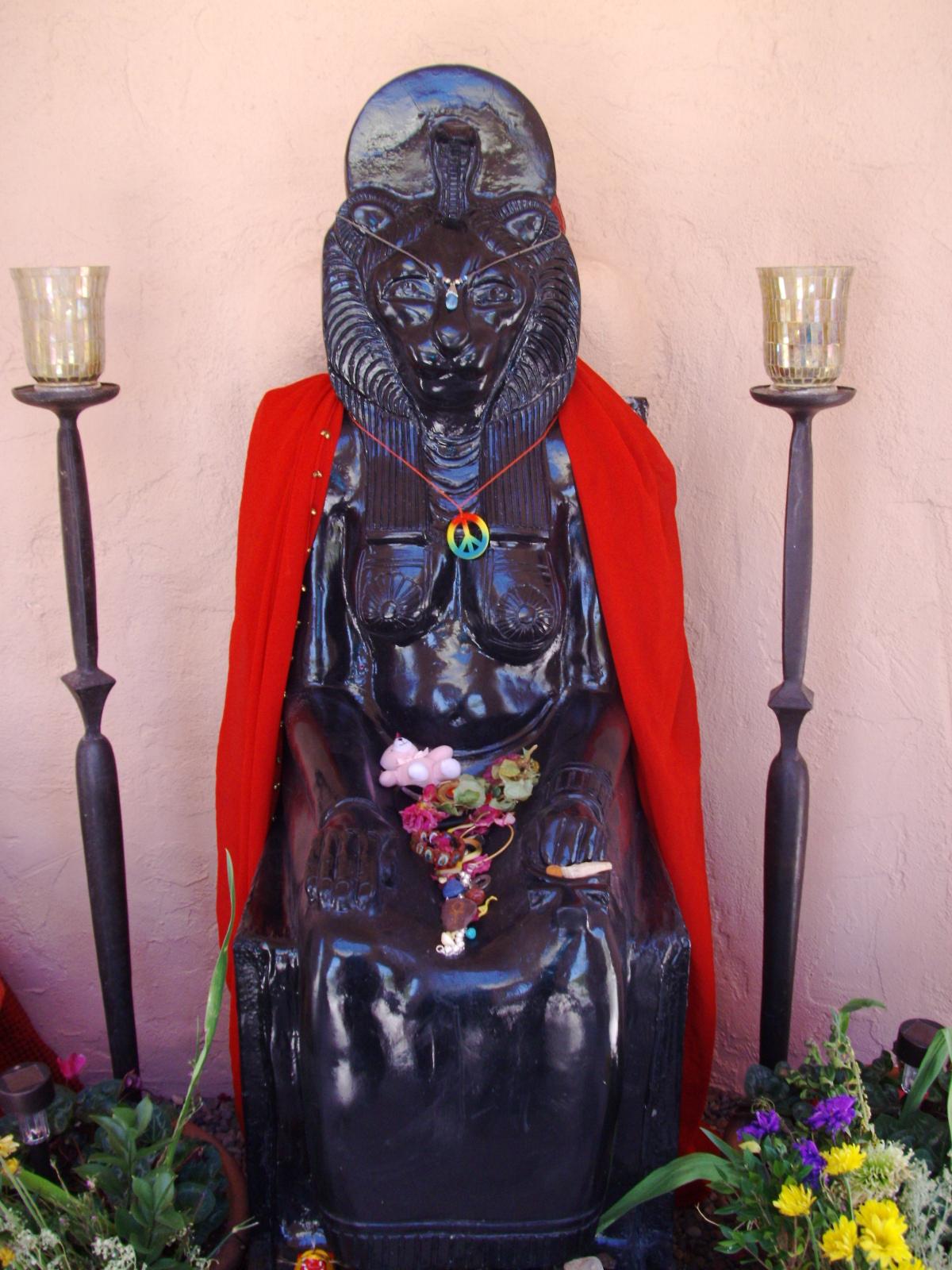 Sekhmet Statue by Marcia Gomez